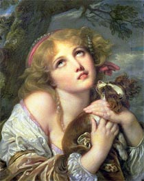 The Souvenir (Fidelity), c.1787/89 by Jean-Baptiste Greuze | Painting Reproduction