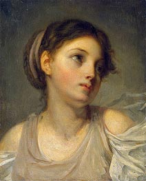 Young Girl in a Lilac Tunic, c.1770/90 by Jean-Baptiste Greuze | Painting Reproduction