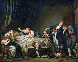 The Punished Son, 1778 by Jean-Baptiste Greuze | Painting Reproduction