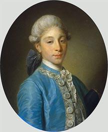Portrait of Marquis de Saint Paul, c.1755/65 by Jean-Baptiste Greuze | Painting Reproduction