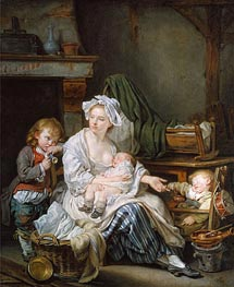 Silence!, 1759 by Jean-Baptiste Greuze | Painting Reproduction