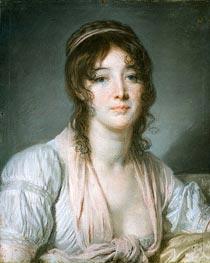 Portrait of Madame Baptiste Aine, c.1790 by Jean-Baptiste Greuze | Painting Reproduction