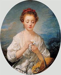 Simplicity, 1759 by Jean-Baptiste Greuze | Painting Reproduction