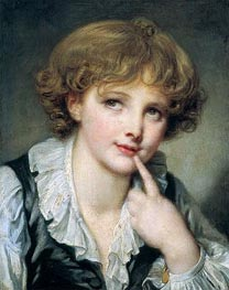 Head of a Boy, c.1782 by Jean-Baptiste Greuze | Painting Reproduction