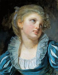 Girl in a Blue Dress, c.1804 by Jean-Baptiste Greuze | Painting Reproduction