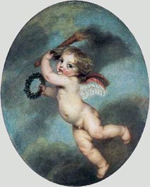 Flying Cupid with a Torch, c.1786/96 by Jean-Baptiste Greuze | Painting Reproduction