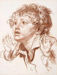 Head of a Startled Boy, undated by Jean-Baptiste Greuze | Painting Reproduction