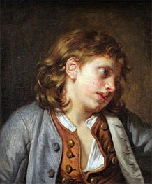 A Young Peasant Boy, undated by Jean-Baptiste Greuze | Painting Reproduction