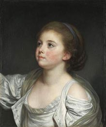 A Girl, c.1765/80 by Jean-Baptiste Greuze | Painting Reproduction