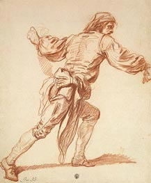 Study of a Man with His Arm Swung Back, b.1761 by Jean-Baptiste Greuze | Painting Reproduction