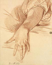 Study of a Female Arm Dropped Down | Jean-Baptiste Greuze | Painting Reproduction