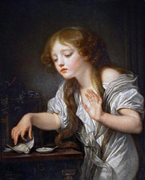 The Dead Bird | Jean-Baptiste Greuze | Painting Reproduction
