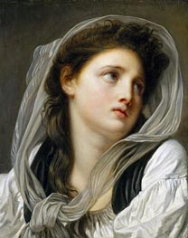Head of a Young Woman (Contemplation) | Jean-Baptiste Greuze | Painting Reproduction