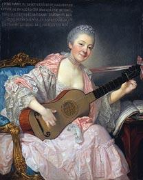 Anne-Marie de Bricqueville de Laluserne, Marquise de Bezons | Jean-Baptiste Greuze | Painting Reproduction