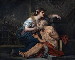 Cimon and Pero (Roman Charity) | Jean-Baptiste Greuze | Painting Reproduction