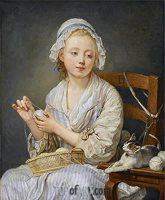 The Wool Winder, c.1759 | Jean-Baptiste Greuze | Gemälde Reproduktion