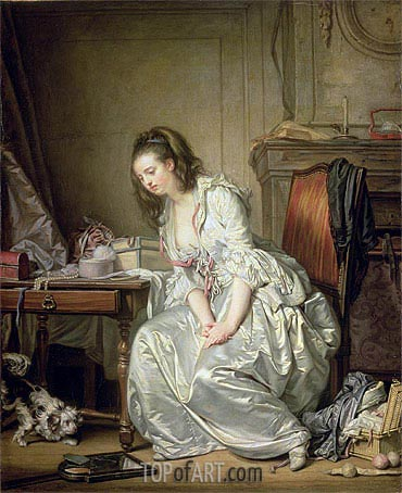 The Broken Mirror, c.1762/63 | Jean-Baptiste Greuze | Gemälde Reproduktion