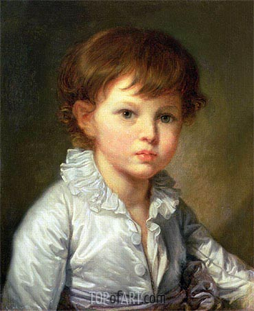 Portrait of Count Pavel Stroganov as A Child, 1778 | Jean-Baptiste Greuze | Painting Reproduction