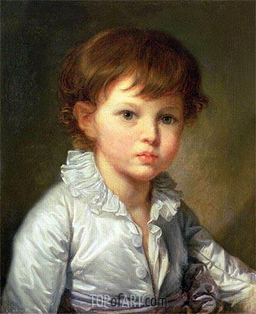 Jean-Baptiste Greuze | Portrait of Count Pavel Stroganov as A Child, 1778