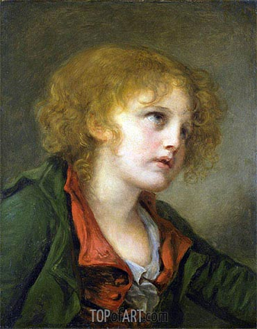 Portrait of a Young Boy, undated | Jean-Baptiste Greuze| Painting Reproduction