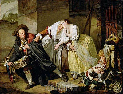 Le Geste Napolitain, 1757 | Jean-Baptiste Greuze | Painting Reproduction