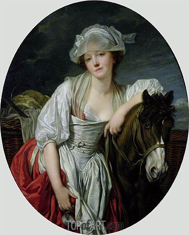 The Milkmaid, c.1780/84 | Jean-Baptiste Greuze | Painting Reproduction