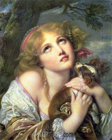 The Souvenir (Fidelity), c.1787/89 | Jean-Baptiste Greuze| Painting Reproduction