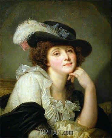 Jean-Baptiste Greuze | Portrait of Sophie Arnould, c.1786