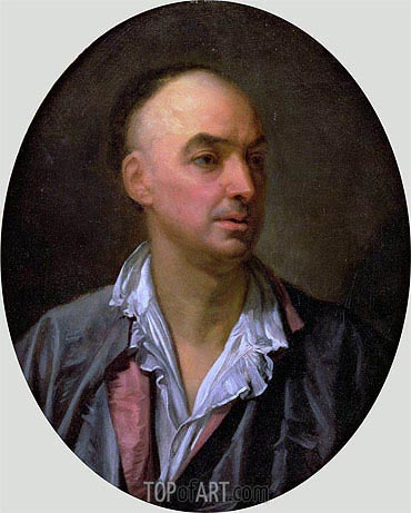 Portrait of Denis Diderot, undated | Jean-Baptiste Greuze| Painting Reproduction