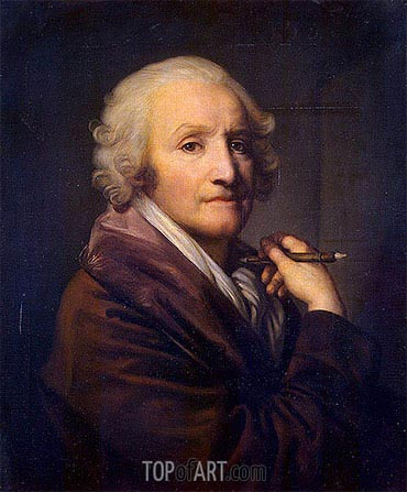 Self Portrait, c.1780/90 | Jean-Baptiste Greuze| Painting Reproduction