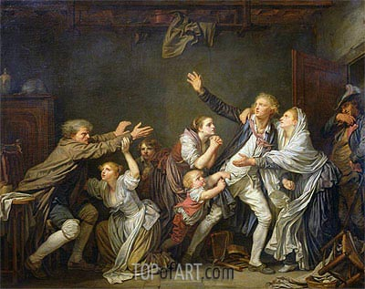 The Paternal Curse or The Ungrateful Son, 1777 | Jean-Baptiste Greuze| Painting Reproduction
