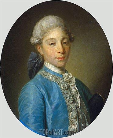 Jean-Baptiste Greuze | Portrait of Marquis de Saint Paul, c.1755/65