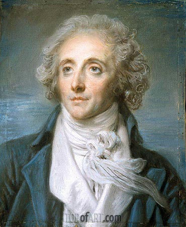 Jean-Baptiste Greuze | Portrait of Baptiste Aine, c.1790