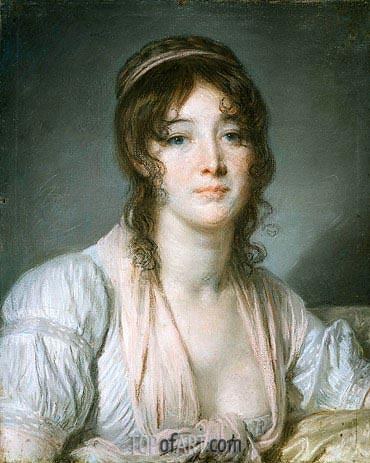 Jean-Baptiste Greuze | Portrait of Madame Baptiste Aine, c.1790