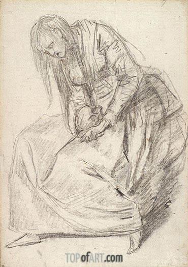 Jean-Baptiste Greuze | Penitent Magdalen, undated