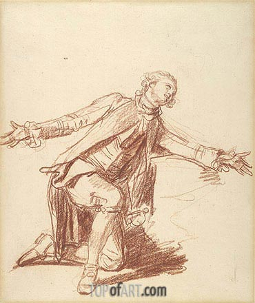 Jean-Baptiste Greuze | A Kneeling Youth with Outstreched Hand, undated