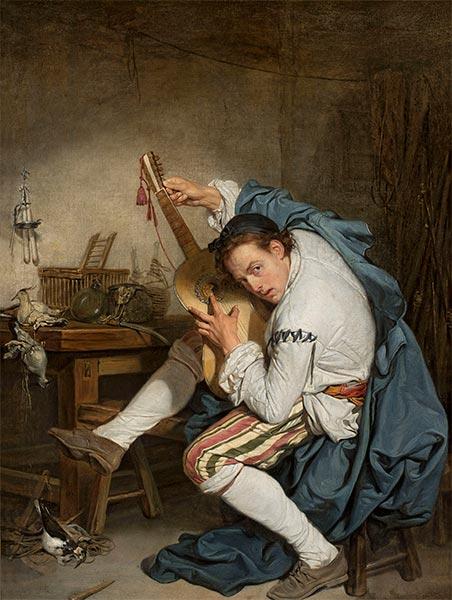 Jean-Baptiste Greuze | The Guitarist, c.1760