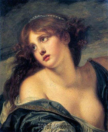 Psyche, 1786 | Jean-Baptiste Greuze| Painting Reproduction
