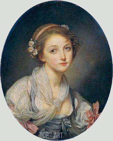 Girl with a Gauze Scarf, c.1770 | Jean-Baptiste Greuze | Painting Reproduction
