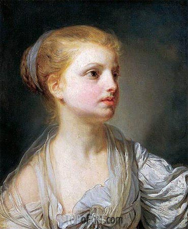Girl in a White Dress, c.1765 | Jean-Baptiste Greuze | Painting Reproduction