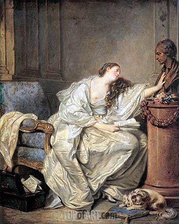 The Inconsolable Widow, c.1762/63 | Jean-Baptiste Greuze| Painting Reproduction