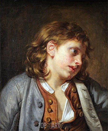 Jean-Baptiste Greuze | A Young Peasant Boy, undated