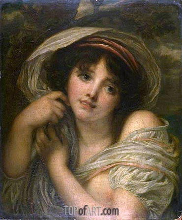 A Girl, undated | Jean-Baptiste Greuze | Painting Reproduction
