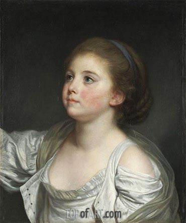Jean-Baptiste Greuze | A Girl, c.1765/80