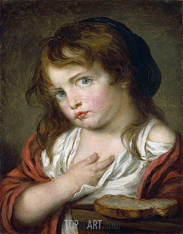Little Girl Pouting, c.1775/00 | Jean-Baptiste Greuze | Gemälde Reproduktion