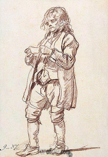 Jean-Baptiste Greuze | Study for 'The Paralytic'. Study of a Boy Carrying a Cup, c.1760