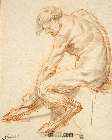 Study of a Faun, b.1755 | Jean-Baptiste Greuze | Painting Reproduction