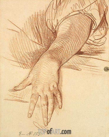 Study of a Female Arm Dropped Down, 1765 | Jean-Baptiste Greuze | Gemälde Reproduktion