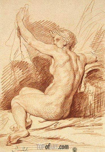 Jean-Baptiste Greuze | Study of a Nymph, b.1755