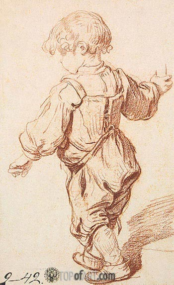 Study of a Boy Walking, c.1765/69 | Jean-Baptiste Greuze| Gemälde Reproduktion